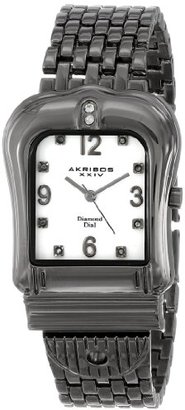 Akribos XXIV Women 's ak528bkクオーツBuckle Bracelet Watch