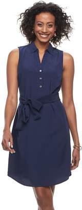 Dana Buchman Women's Sateen Shirt Dress