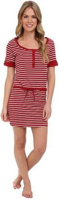 Bottoms Out Women's Preppy Stripes Jersey Nightie