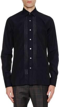 Lanvin Men's Slim-Fit Sport Shirt with Bicolor Plastron