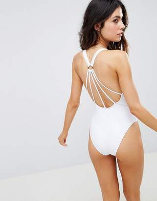 Asos DESIGN Strappy Ring Back Swimsuit