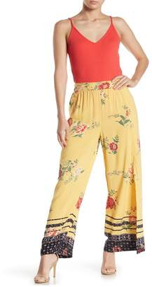 Angie Floral High Waisted Slit Palazzo Pants
