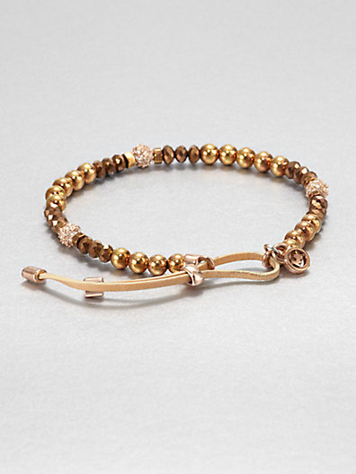 Michael Kors Fireball Bead Bracelet/Bronze