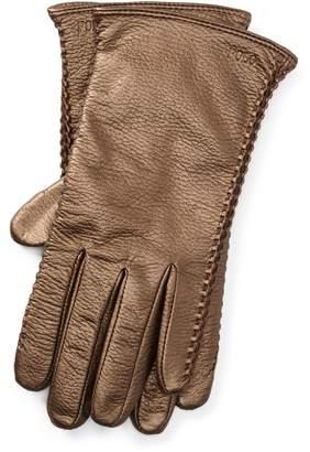 Ralph Lauren Corset-Stitched Leather Gloves
