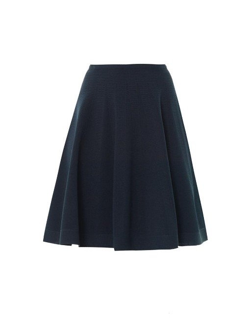 Alaia Flesh full skater skirt