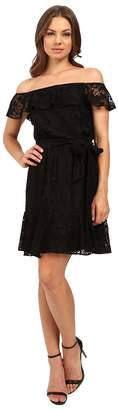 Jessica Simpson Lace Off the Shoulder Dress JS6D8622 Women's Dress