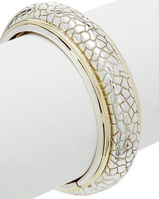 Charles Krypell 14K & Silver Python Textured Cuff