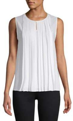 Calvin Klein Pleated Front Sleeveless Top