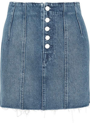 GRLFRND Twiggy Paneled Denim Mini Skirt - Mid denim