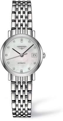 Longines Elegant Automatic Diamond Bracelet Watch, 25.5mm