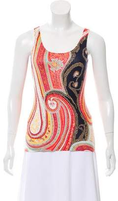 Neiman Marcus Printed Cashmere Top w/ Tags