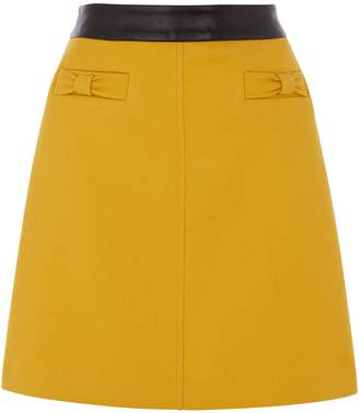 Next Womens Oasis Yellow Bow Skirt