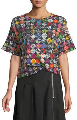 Marc Jacobs Badges-Print Short-Sleeve Cotton T-Shirt