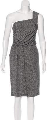 Fendi One-Shoulder Silk Dress