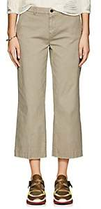 ATM Anthony Thomas Melillo Women's Cotton Crop Boyfriend Trousers-Green