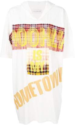 Faith Connexion print hooded oversize T-shirt