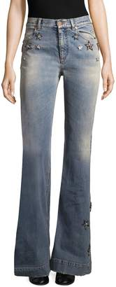 Roberto Cavalli Women's Star Applique Flared Jeans