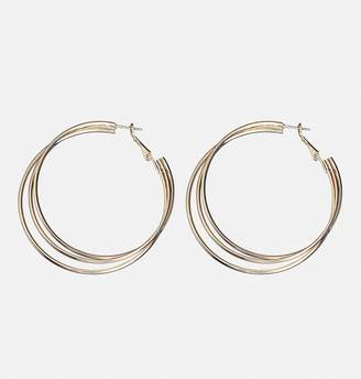 Avenue Rose Gold Triple Hoop Earrings