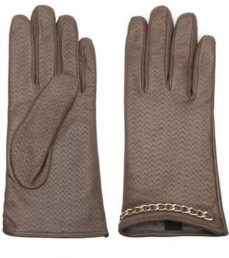 Dalgado - Handmade Nappa Leather Gloves Brown Azzurra