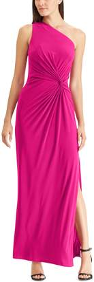 Chaps Women's One-Shoulder Gathered Evening Gown