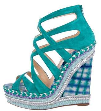 Christian Louboutin Platform Caged Wedges