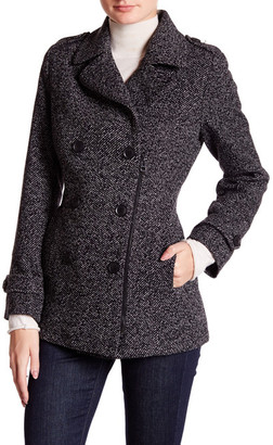 Lucky Brand Zip Front Wool Blend Peacoat $245 thestylecure.com