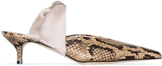 Couture Gia Bandana Girl 55mm snake-effect pumps