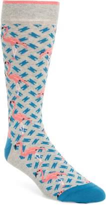 Ted Baker Flamingo Print Socks