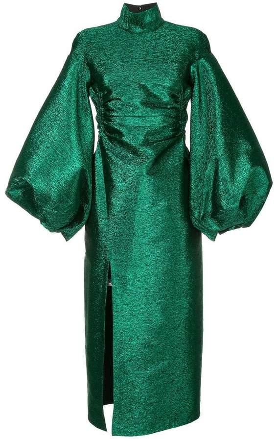metallic lurex dress