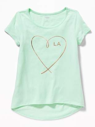 """Old Navy """"L.A."""" Heart Graphic Tee for Girls"""