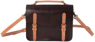 EAZO - Leather Satchel Bag In Dark Brown