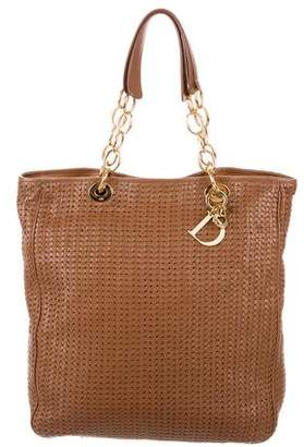 Christian Dior Leather Woven Tote
