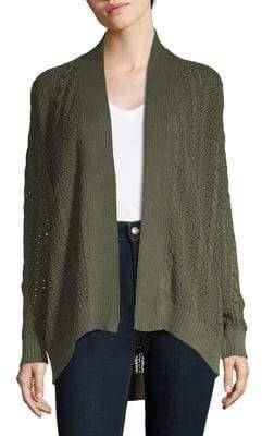 Jones New York Cable-Knit Cotton Cardigan
