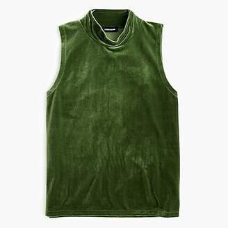 Velvet mockneck tank top
