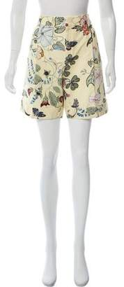 Gucci High-Rise Flora Knight Shorts