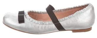 Marc by Marc Jacobs Leather Bowtie Flats