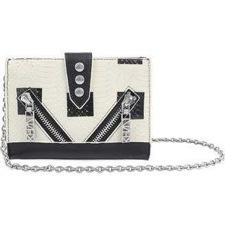 Kenzo Ecru Leather Clutch Bag