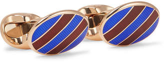 Deakin & Francis Kingsman Rose Gold-Plated Cufflinks - Men - Rose gold