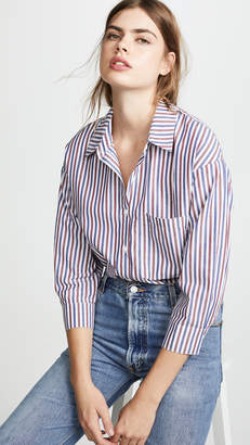 Stateside Oxford Boyfriend Button Down Shirt