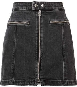 Rag & Bone Isabel Denim Mini Skirt - Black
