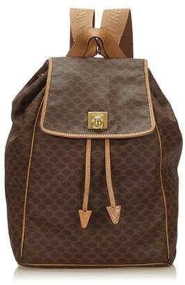 Celine Vintage Macadam Drawstring Backpack