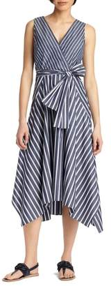 Lafayette 148 New York Demetria Stripe Poplin Dress