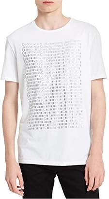 Calvin Klein Jeans Men's Short Sleeve Gradient Stud Crew Neck T-Shirt
