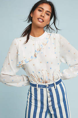 Geisha Designs Starry Embroidered Blouse