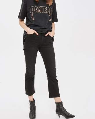 Topshop MOTO Dree Cropped Kick Flare Jeans