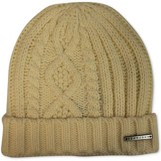 Sean John Men's Diamond Cable Knit Cuff Beanie