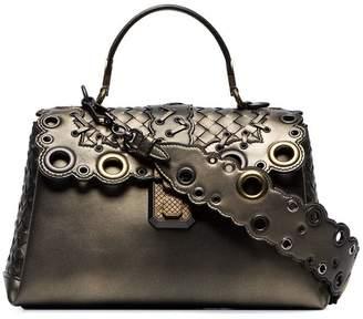 Bottega Veneta bronze Piazza leather shoulder bag
