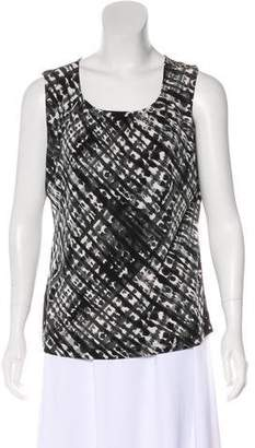 Calvin Klein Printed Sleeveless Blouse