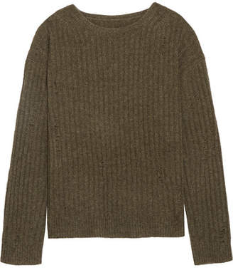 Nili Lotan Baxter Ribbed Cashmere Sweater - Army green