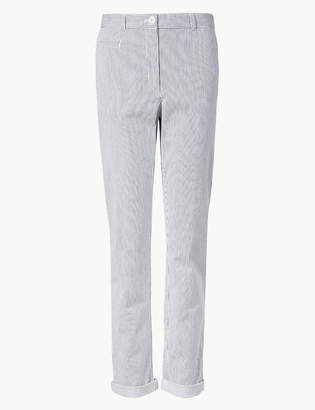 Marks and Spencer Cotton Rich Tapered Leg Chinos